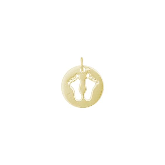 Médaille pieds Or 9 carats jaune - La Petite Française