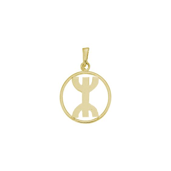 Pendentif Berbère cercle Or 9 carats jaune - 30 MM - La Petite Française