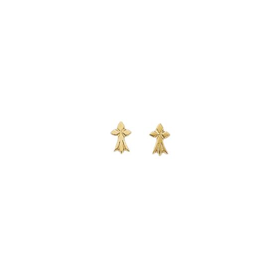 Boucles d'oreilles hermine Or 9 carats jaune - La Petite Française