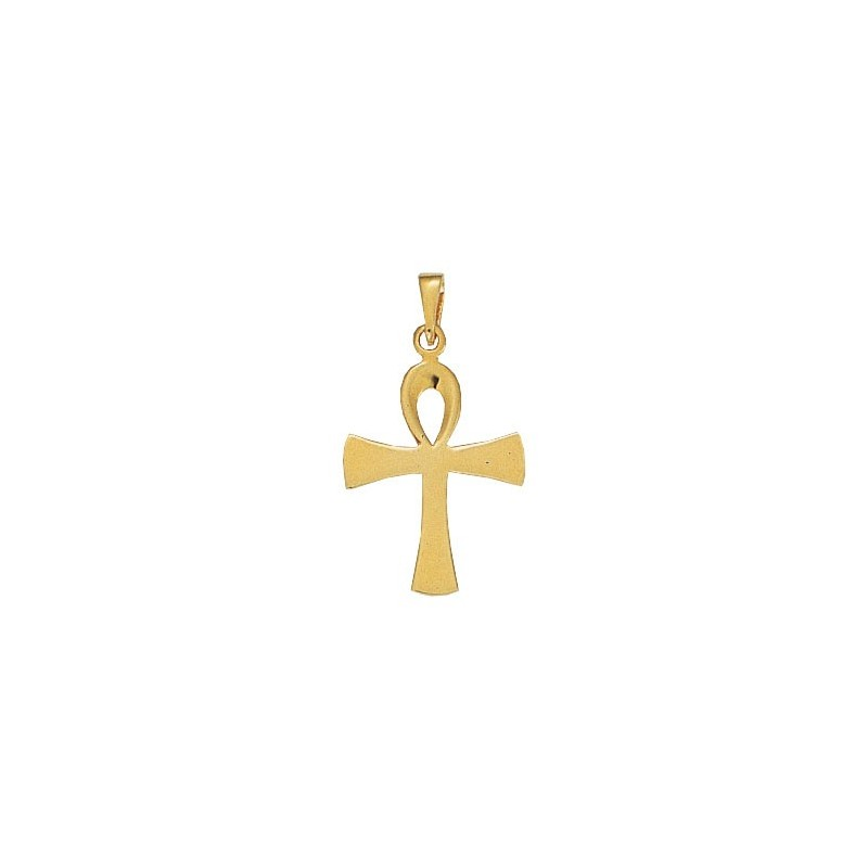 Pendentif Ankh Or 9 carats jaune-  35 MM - La Petite Française
