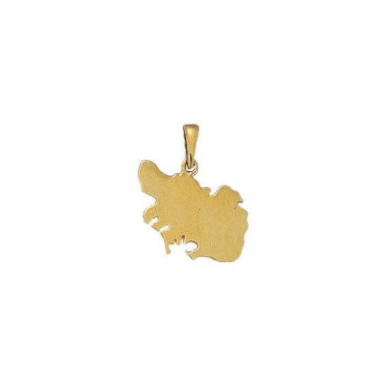 Pendentif carte Morbihan Or 9 carats jaune - 20 MM - La Petite Française