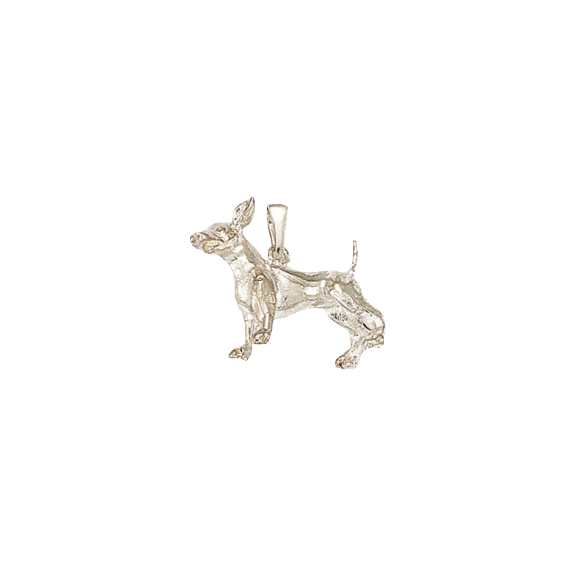 Pendentif chien Chihuahua Or 9 carats gris - 20 MM - La Petite Française