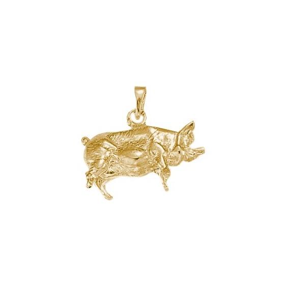 Pendentif cochon Or 9 carats jaune - La Petite Française