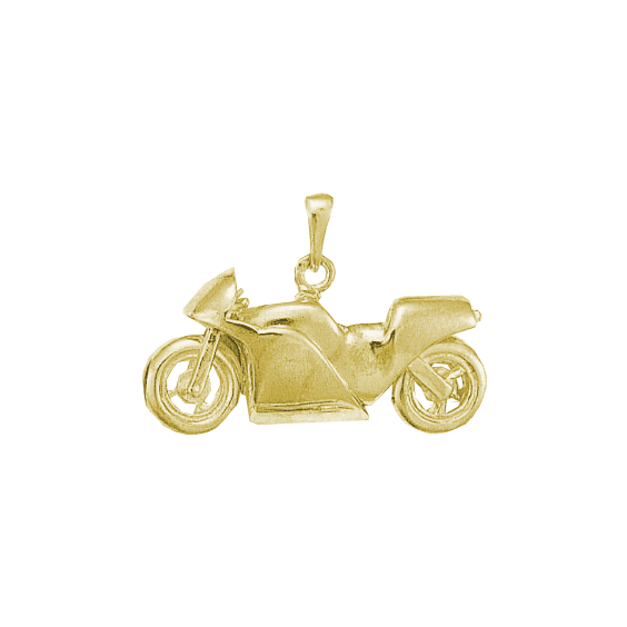 Pendentif moto Or 9 carats jaune - La Petite Française