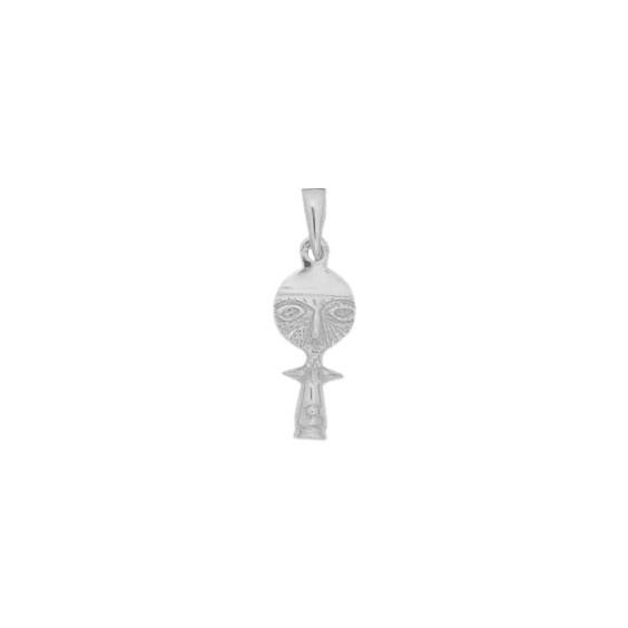 Pendentif poupée Ashanti Or 9 carats gris- 26 MM - La Petite Française