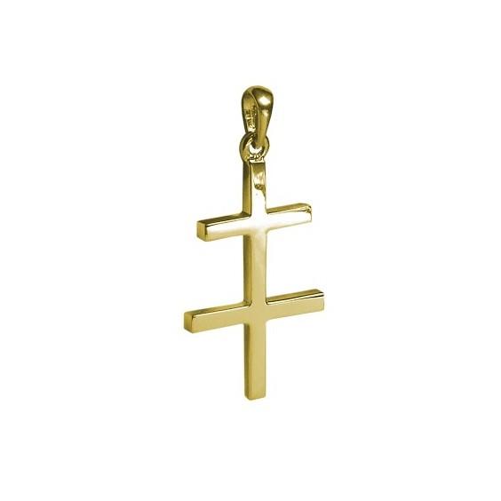 Croix de Lorraine Or 9 carats jaune - 41 MM - La Petite Française