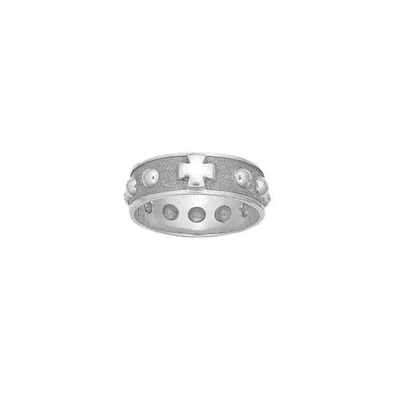 Anneau dizainier Or 9 carats gris - 7 MM - La Petite Française