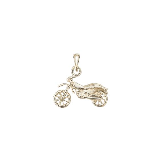 Pendentif moto-cross Or 9 carats gris - La Petite Française