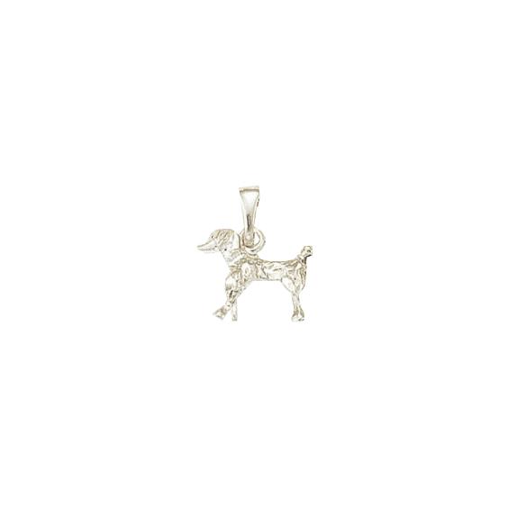 Pendentif chien Caniche Or 18 carats gris - 18 MM - La Petite Française