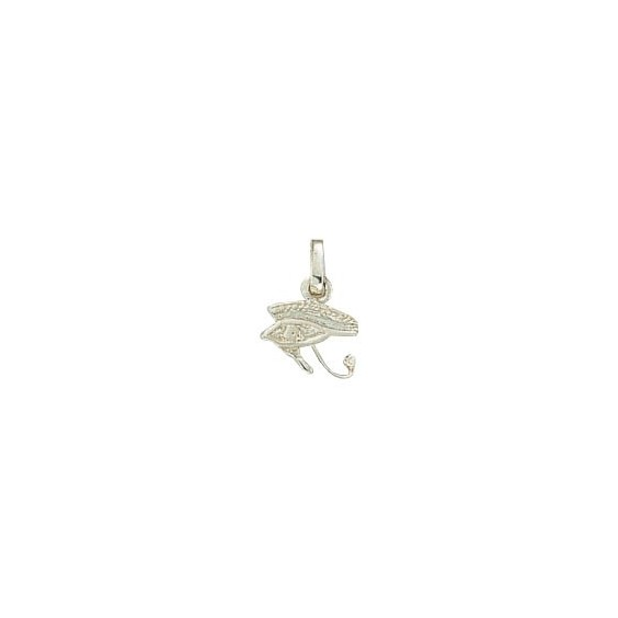 Pendentif oeil d'Horus Or 18 carats gris - 15 MM - La Petite Française