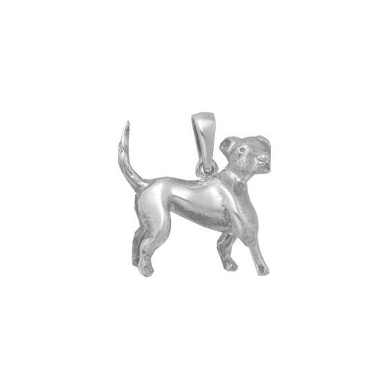 Pendentif chien Beagle Or 18 carats gris - 21 MM - La Petite Française