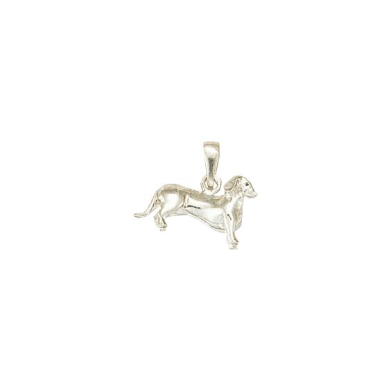 Pendentif chien Teckel Or 18 carats gris - 18 MM - La Petite Française
