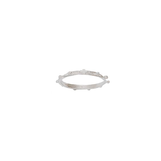 Anneau dizainier Or 18 carats gris - 2 MM - La Petite Française
