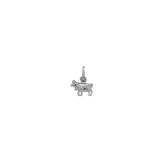 Pendentif vache Or 18 carats gris - 12 MM - La Petite Française