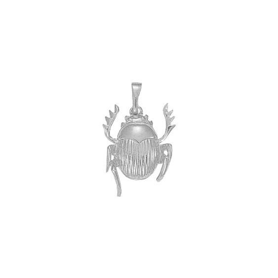 Pendentif scarabée Or 18 carats gris - 27 MM - La Petite Française