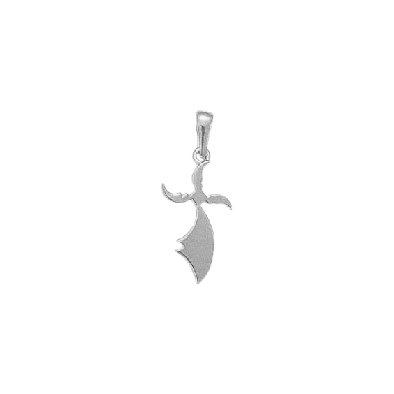 Pendentif hermine Or 18 carats gris - 29 MM - La Petite Française