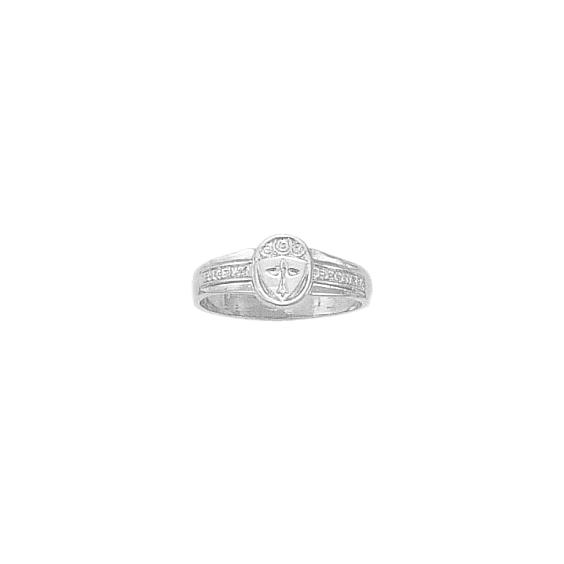 Bague hermine Or 18 carats gris - 9 X 7 MM - La Petite Française