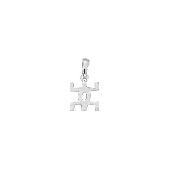 Pendentif symbole Berbère Or 18 carats gris - 20 MM - La Petite Française