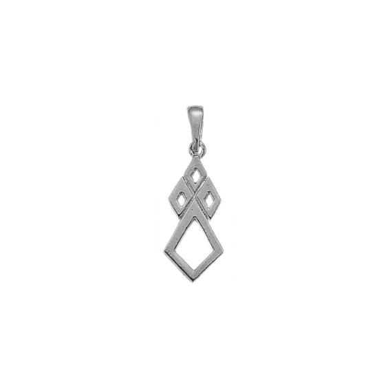 Pendentif hermine Or 18 carats gris - 30 MM - La Petite Française