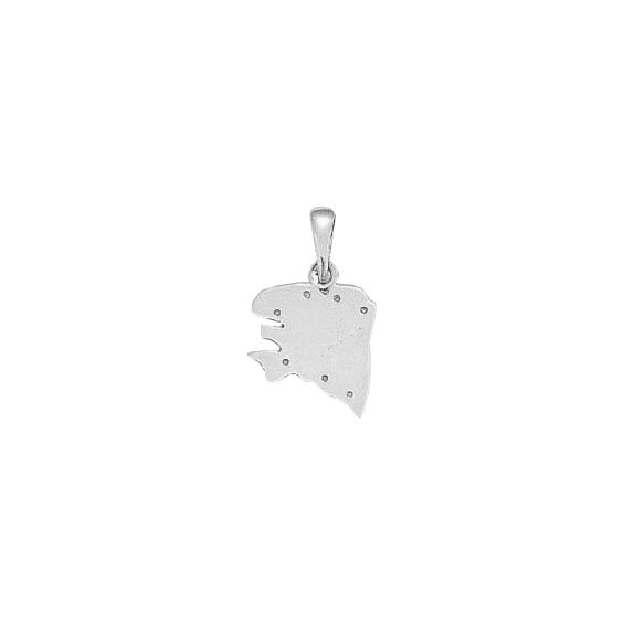 Pendentif carte Bretagne Ancestrale Or 18 carats gris - 22 MM - La Petite Française