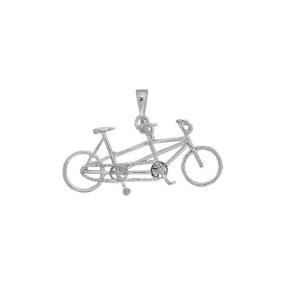 Pendentif vélo tandem Or 18 carats gris - La Petite Française