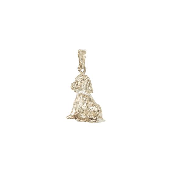 Pendentif chien Cocker Or 18 carats gris - 27 MM - La Petite Française