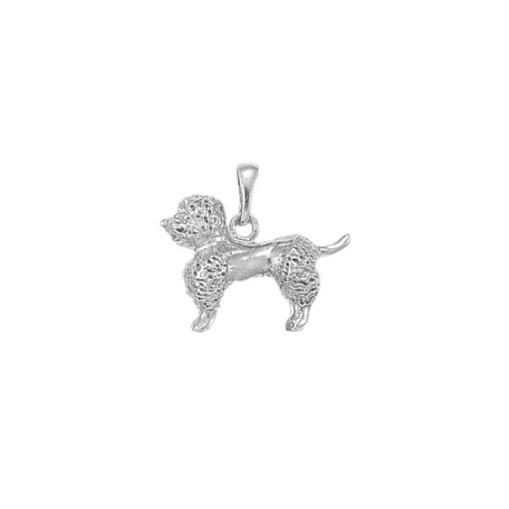 Pendentif chien Caniche Or 18 carats gris - 21 MM - La Petite Française