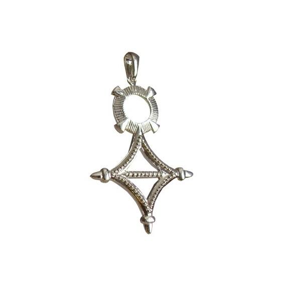 Croix du sud Or 18 carats gris - 48 MM  - La Petite Française
