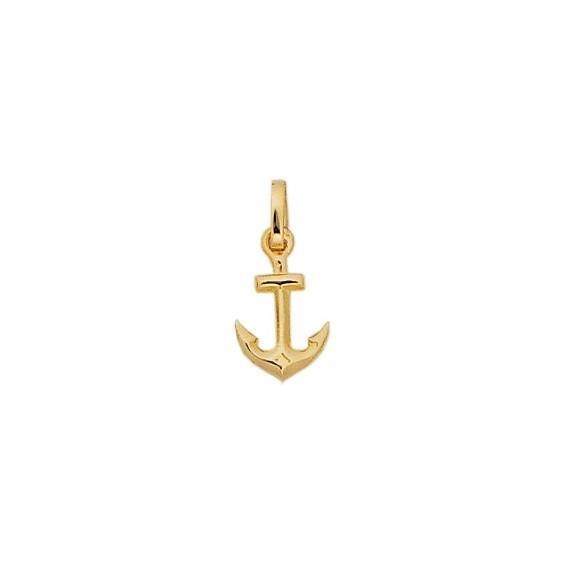 Pendentif ancre marine Or 18 carats gris - 19 MM - La Petite Française