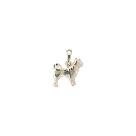 Pendentif chien Husky Or 18 carats gris - 17 MM - La Petite Française