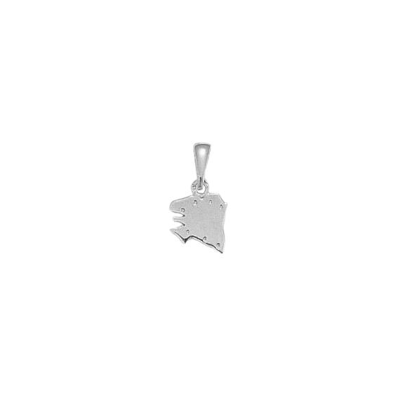 Pendentif carte Bretagne Ancestrale Or 18 carats gris - 18 MM - La Petite Française