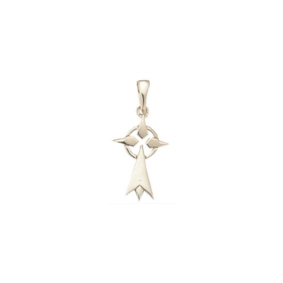 Pendentif hermine Or 18 carats gris - 28 MM - La Petite Française