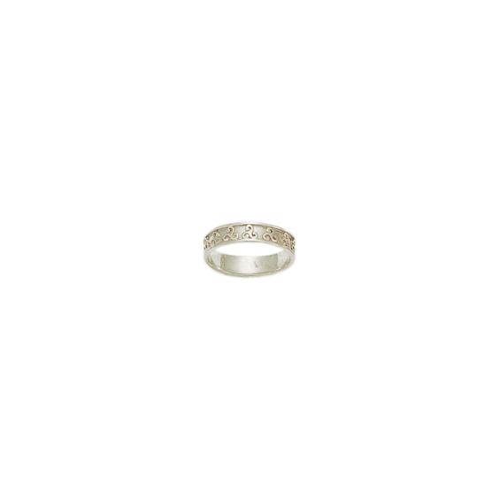Anneau triskel Or 18 carats gris - 5 MM - La Petite Française