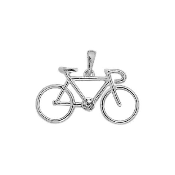 Pendentif vélo Or 18 carats gris grand modèle - La Petite Française