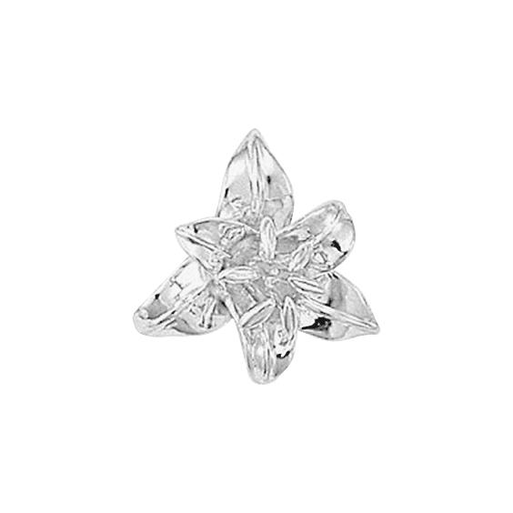 Pendentif fleur de Lys Or 18 carats gris - La Petite Française