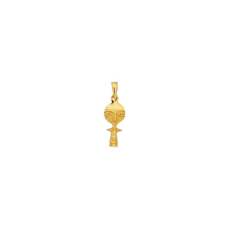 Pendentif poupée Ashanti Or 18 carats jaune - 26 MM - La Petite Française