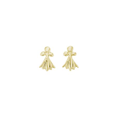 Boucles d'oreilles hermine Or 18 carats jaune - La Petite Française