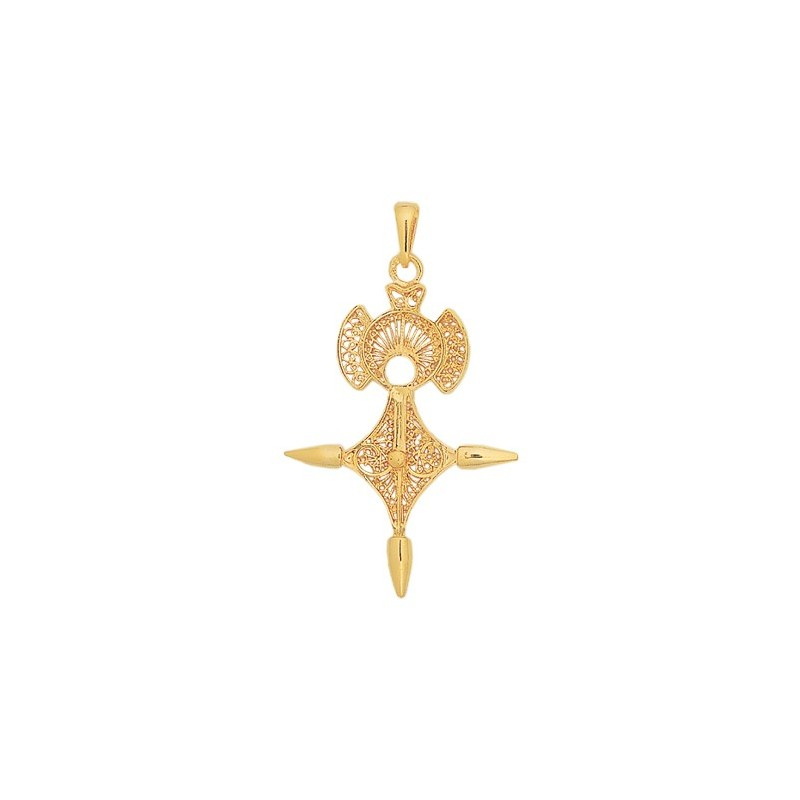 Croix du sud filigrane Or 18 carats jaune - 55 MM - La Petite Française