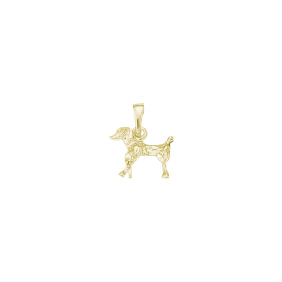 Pendentif chien Caniche Or 18 carats jaune - 18 MM - La Petite Française