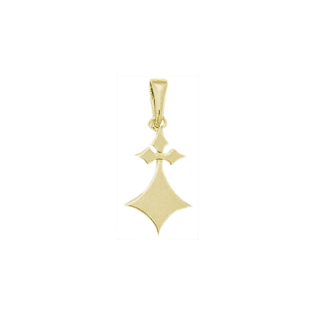 Pendentif hermine Or 18 carats jaune - 26 MM - La Petite Française