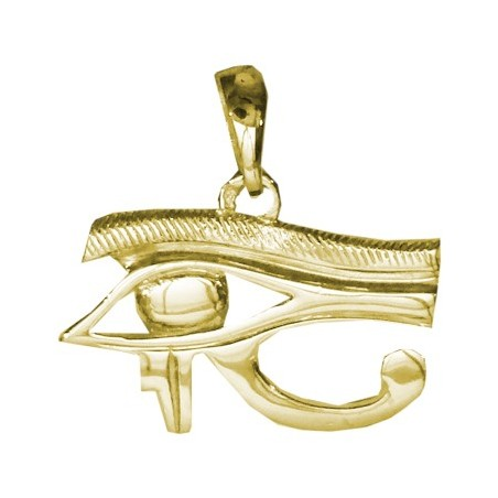 Pendentif oeil d'Horus Or 18 carats jaune - 22 MM - La Petite Française