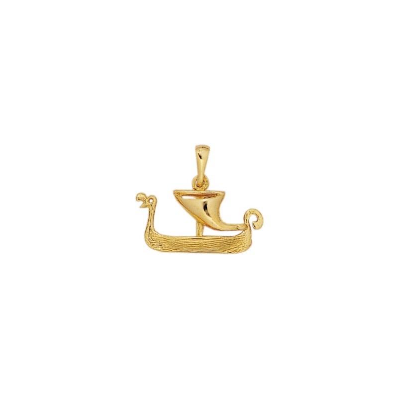 Pendentif Drakkar viking Or 18 carats jaune - La Petite Française
