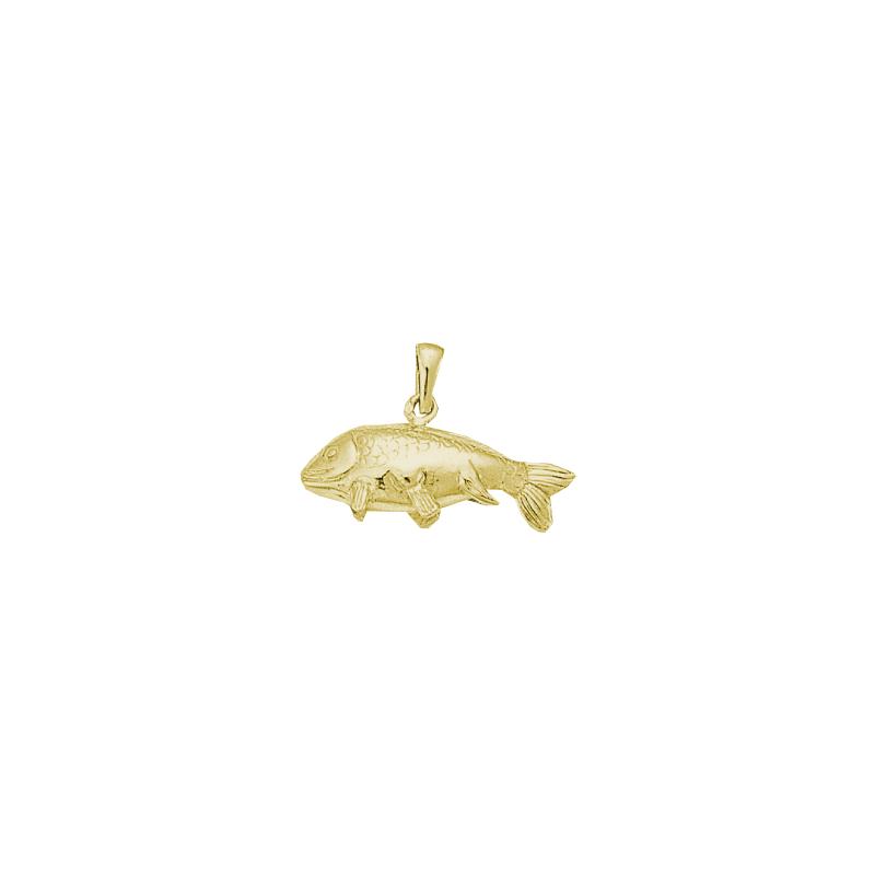 Pendentif poisson carpe Or 18 carats jaune - La Petite Française