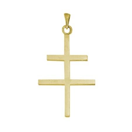 Croix de Lorraine Or 18 carats jaune - 54 MM - La Petite Française