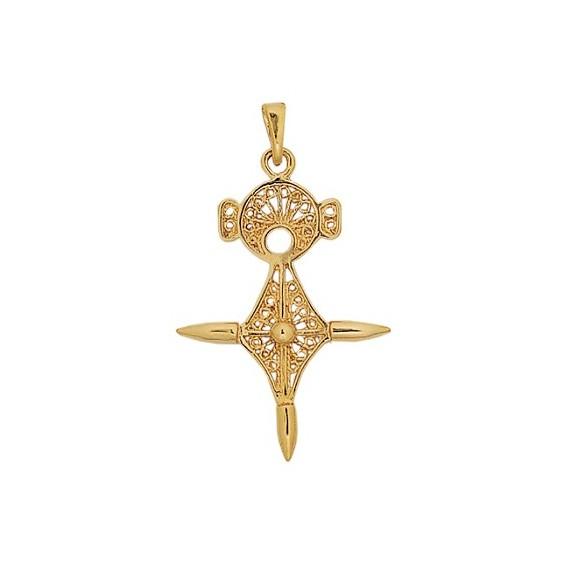 Croix du sud filigrane Or 18 carats jaune - 43 MM - La Petite Française