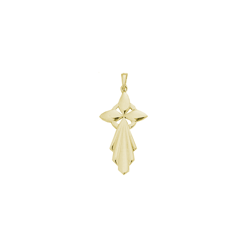 Pendentif hermine Or 18 carats jaune - 47 MM - La Petite Française