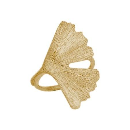 Bague Ginkgo biloba MM Or 18 carats jaune - La Petite Française