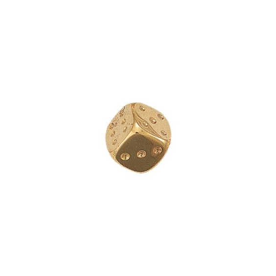Dé à jouer or 18 carats jaune gm - La Petite Française