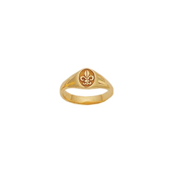 Bague fleur de Lys Or 18 carats jaune - La Petite Française