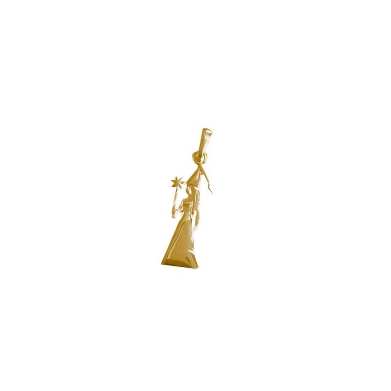 Pendentif fée ou magicienne GM Or 18 carats jaune - La Petite Française